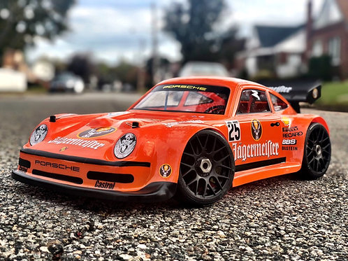 1/8 PORSCHE 911 325mm/2mm Rc Car Body *Drag or Speed Runs*