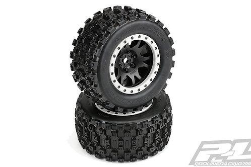 Badlands MX43 Pro-Loc All Terrain Tires Mounted (PAIR 2)