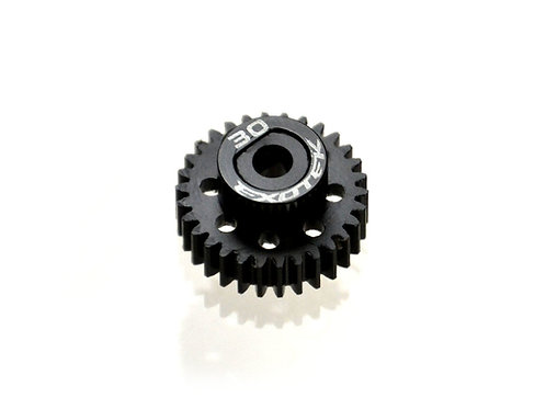EXOTEK Flite 30 Tooth 48 Pitch Pinion Gear, Black POM with Alloy Collar
