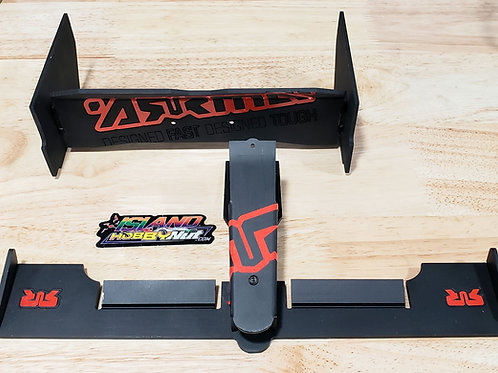 Arrma Typhon F1 Aluminum Rear Wing & Front Spoiler Combo Black / Red