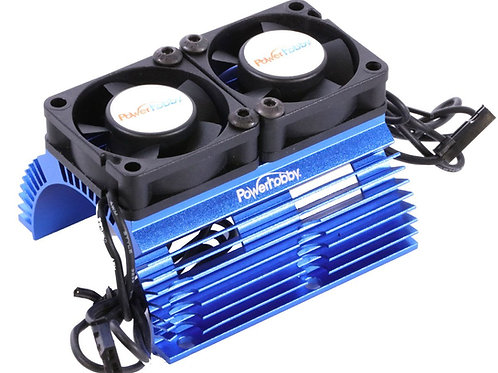 Powerhobby Heat Sink w Twin Turbo High Speed Cooling Fans 1/8 Motors