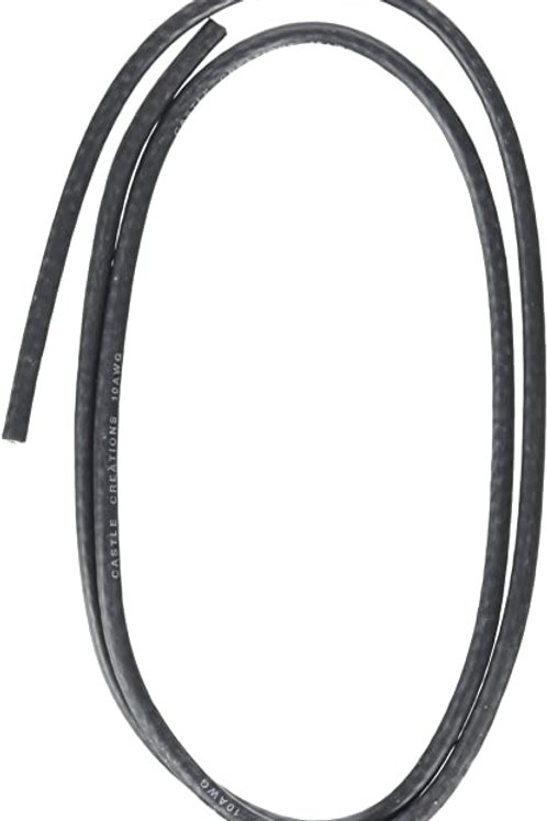 CASTLE WIRE - 10 GAUGE - BLACK - 36""
