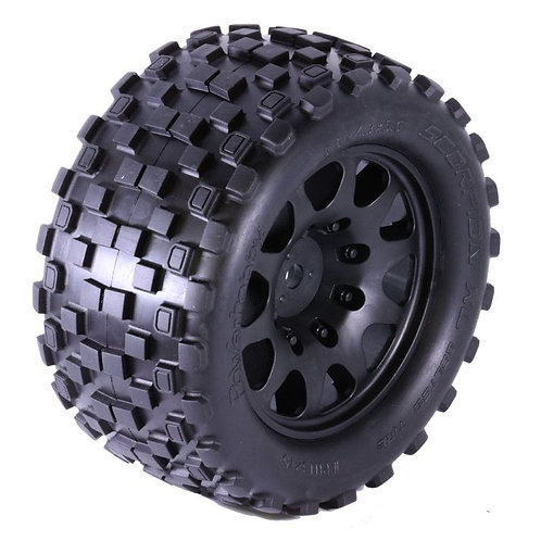 Powerhobby SCORPION XL 24MM Belted Tires / Viper Wheels (2) KRATON 8S