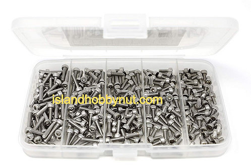 FOH 250 Pcs M3 x 6mm / 8mm / 10mm / 12mm / 16mm Stainless Steel Hex Socket Kit