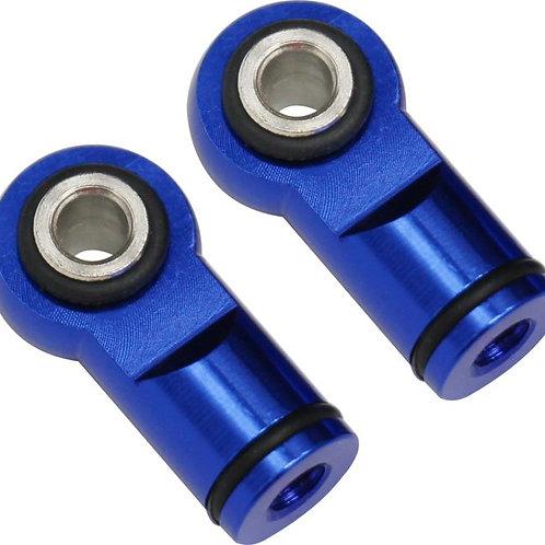 HOT RACING RVO154M06 Blue Ball Type Aluminum Shock Ends