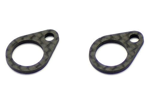 SERPENT 977E Midshaft bearing CARBON plate(2) (#904122)