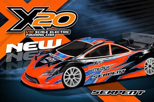 Serpent Medius X20 Carbon Fiber 1/10 Electric Touring Car #400003