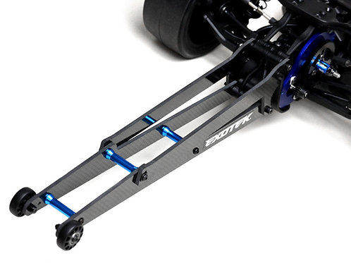 """EXOTEK DR10 Adjustable Wheelie Bar Set, 12"""" Carbon and Alloy EXO1962"""