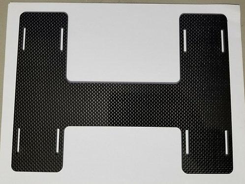 Universal Offset 1/8 CARBON FIBER H Plate Battery Tray