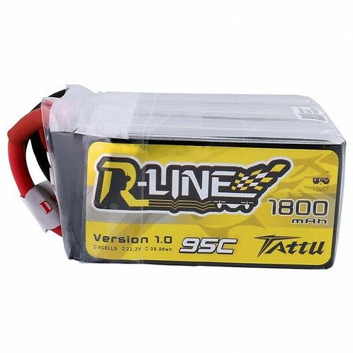 Tattu 1800mAh 95C 6S 22.2V Lipo Battery Pack XT60 Plug For FPV Racing Quad Drone