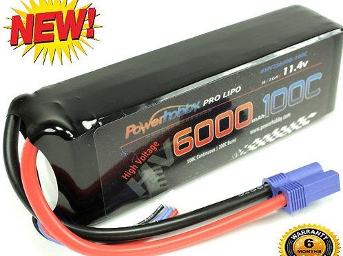 Powerhobby 3S 11.4V HV 6000mAh 100c - 200c Lipo Battery Pack