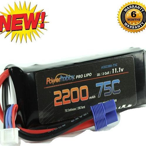 Powerhobby 3S 11.1V 2200mAh 75C Lipo Battery Pack