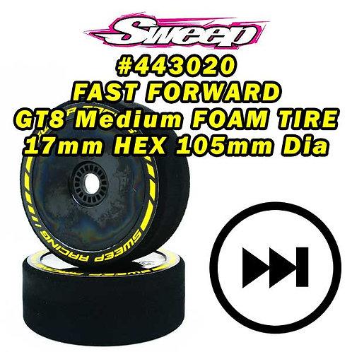 Sweep FAST FORWARD MEDIUM FOAM TIRES for GT8 17mm HEX 2pcs set