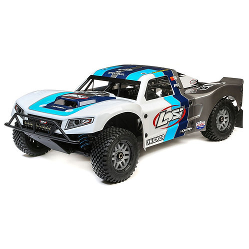 LOSI 1/5 5IVE-T 2.0 4WD Short Course Truck Gas BND, Grey/Blue/White LOS05014T1