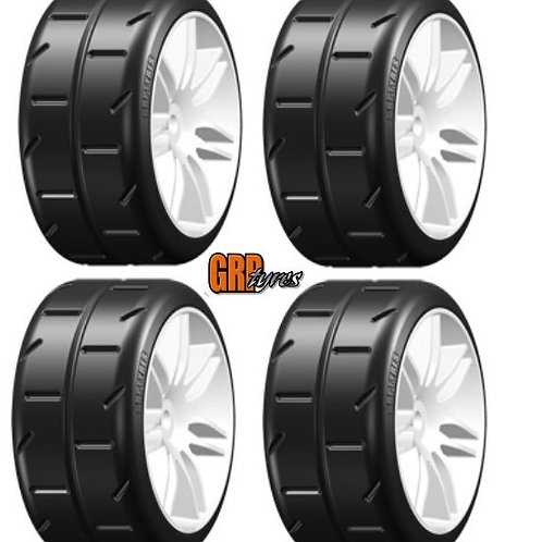GRP GTH01-S2 GT T01 REVO S2 XSoft Mounted Tires Spoked White (4) 1/8 Buggy