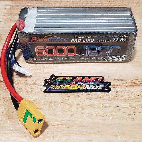 Powerhobby 6s 22.8V 6000mah 120c GRAPHENE + HV Lipo Battery