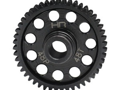 HOT RACING Speed Run Steel Spur Gear, 48 Tooth/48 Pitch, for Traxxas 4 Tec 2