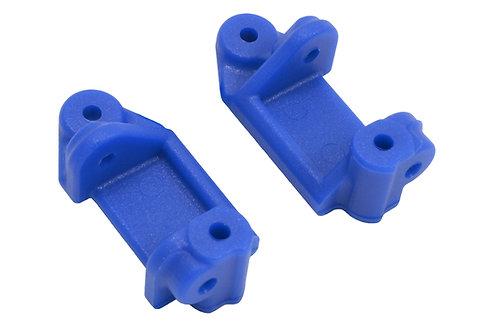 Blue Front Caster Blocks (Slash 2wd, Nitro Slash, e-Rustler & e-Stampede 2wd)