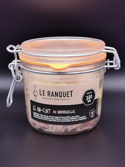 Foie gras de canard mi-cuit au Monbazillac 300 grs