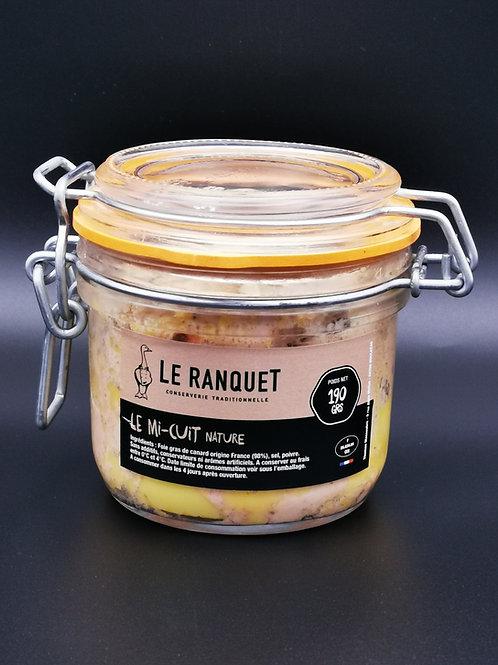 Foie gras de canard mi-cui nature 190 grs