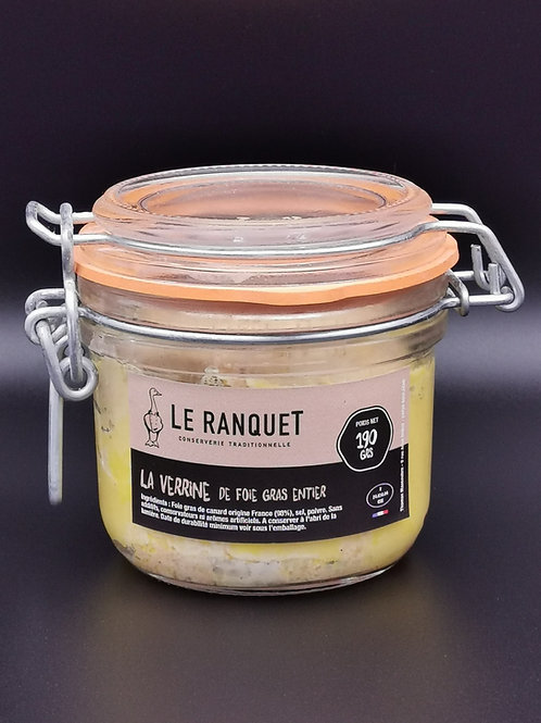Foie gras de canard entier 190 grs