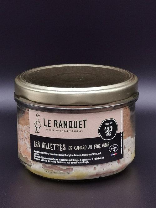 Rillettes de canard au foie gras 180grs