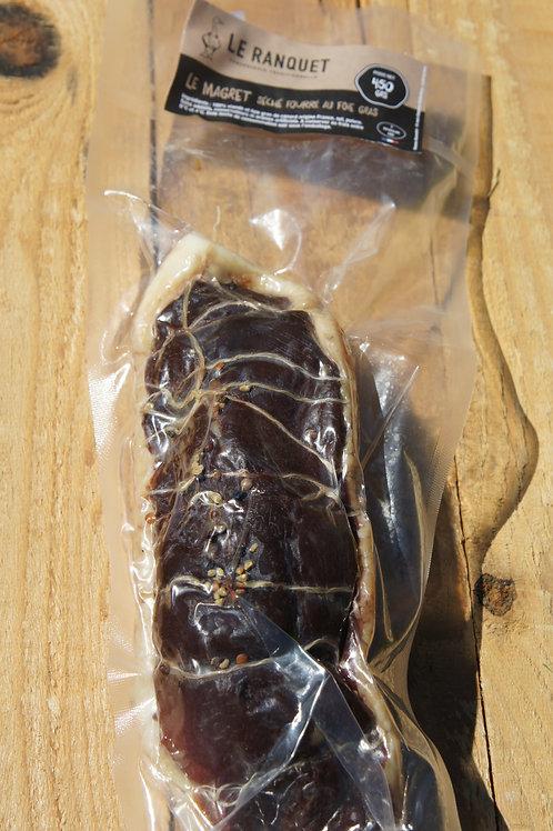 Magret séché fourré au foie gras environ 450 grs