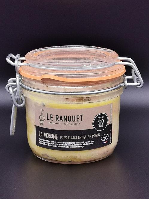 Foie gras de canard entier au poivre190 grs
