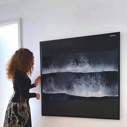 BLACK SAND BEACH - 100x100