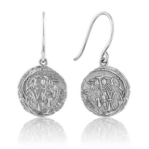 Ania Haie Emblem Earrings Sterling Silver
