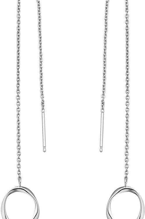 Ania Haie Sterling Silver Swirl Threader Earrings