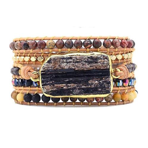 Pueblo Vista Black Tourmaline Wrap Bracelet