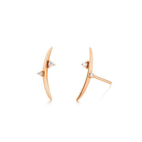 DORA |  Diamond Arc Earrings