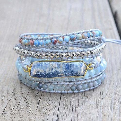 Pueblo Vista Healing Topaz Wrap Bracelet