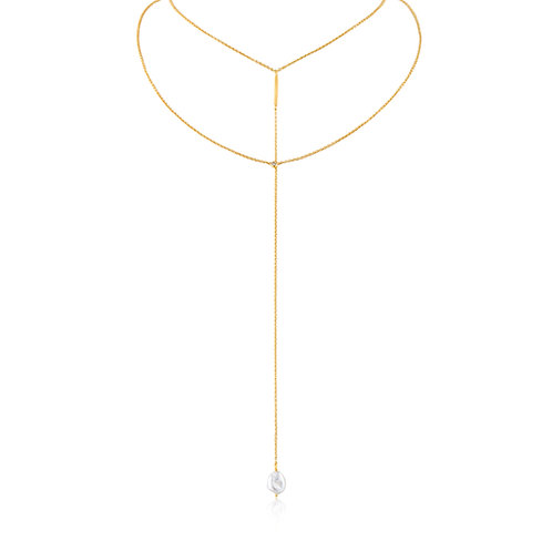 Ania Haie Gold Y Necklace