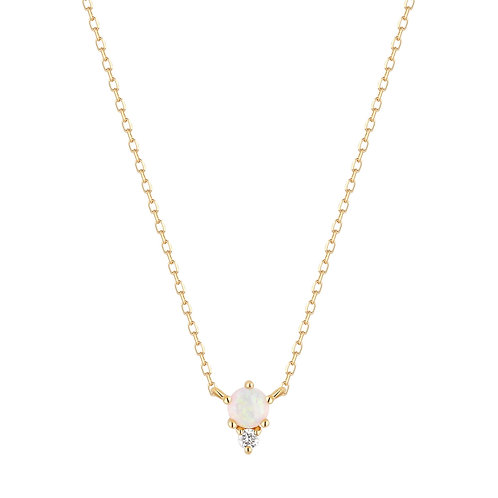 ZENA | Opal and Diamond Necklace