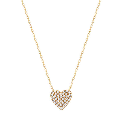 ELSIE | Diamond Pave Heart Necklace