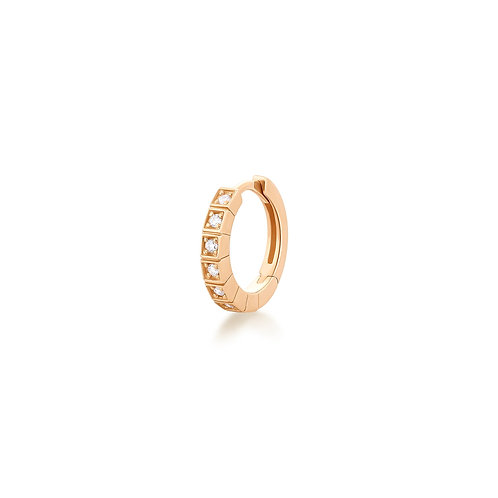 CHLOE | Single Diamond Huggie Hoop