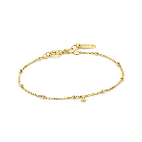 Ania Haie Gold Shimmer Single Stud Bracelet