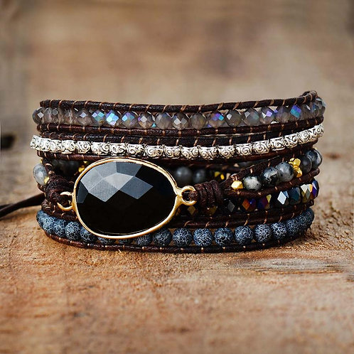 Pueblo Vista Onyx Moonlight Wrap Bracelet