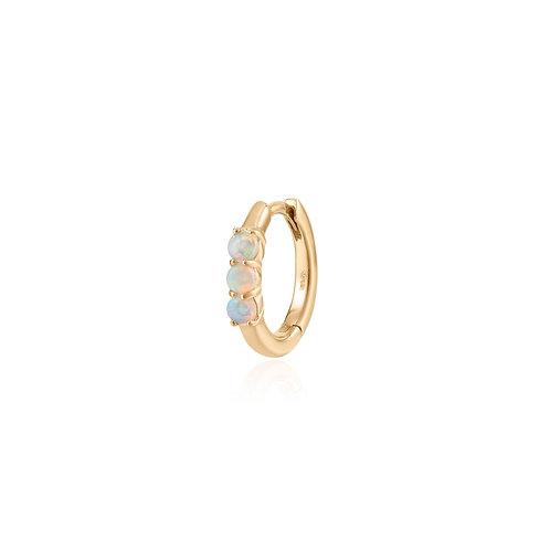 TARA | Single Opal Huggie Hoop