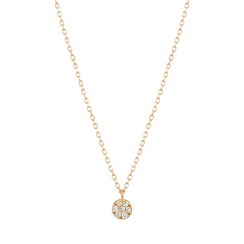 LILY | Diamond Disc Necklace