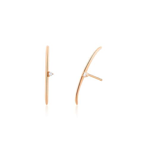ELIZABETH | Diamond Arc Earrings