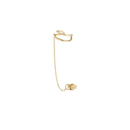 STEVIE | Single Disc Chain Ear Cuff