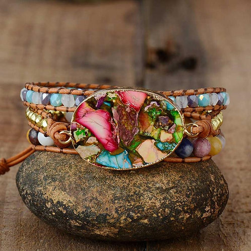 Pueblo Vista Warrior Goddess Wrap Bracelet
