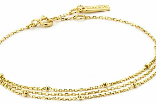 Ania Haie Gold-Plated Draping Swing Bracelet