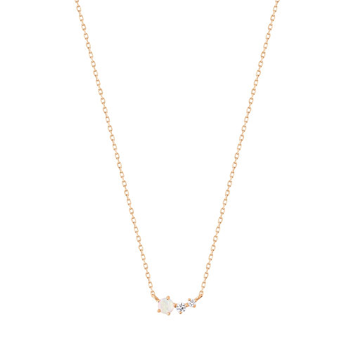 ZARA | Opal and Diamond Necklace