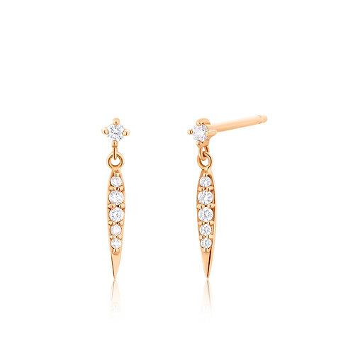 FLORENCE | Diamond Dagger Earrings