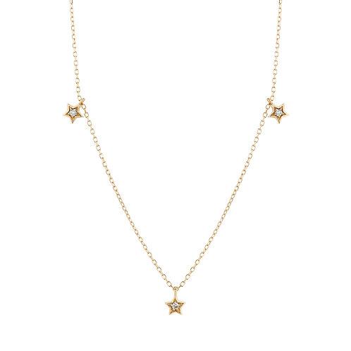 LYRA | Triple Diamond Star Necklace