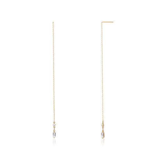 CAMILA | Topaz Threader Earrings